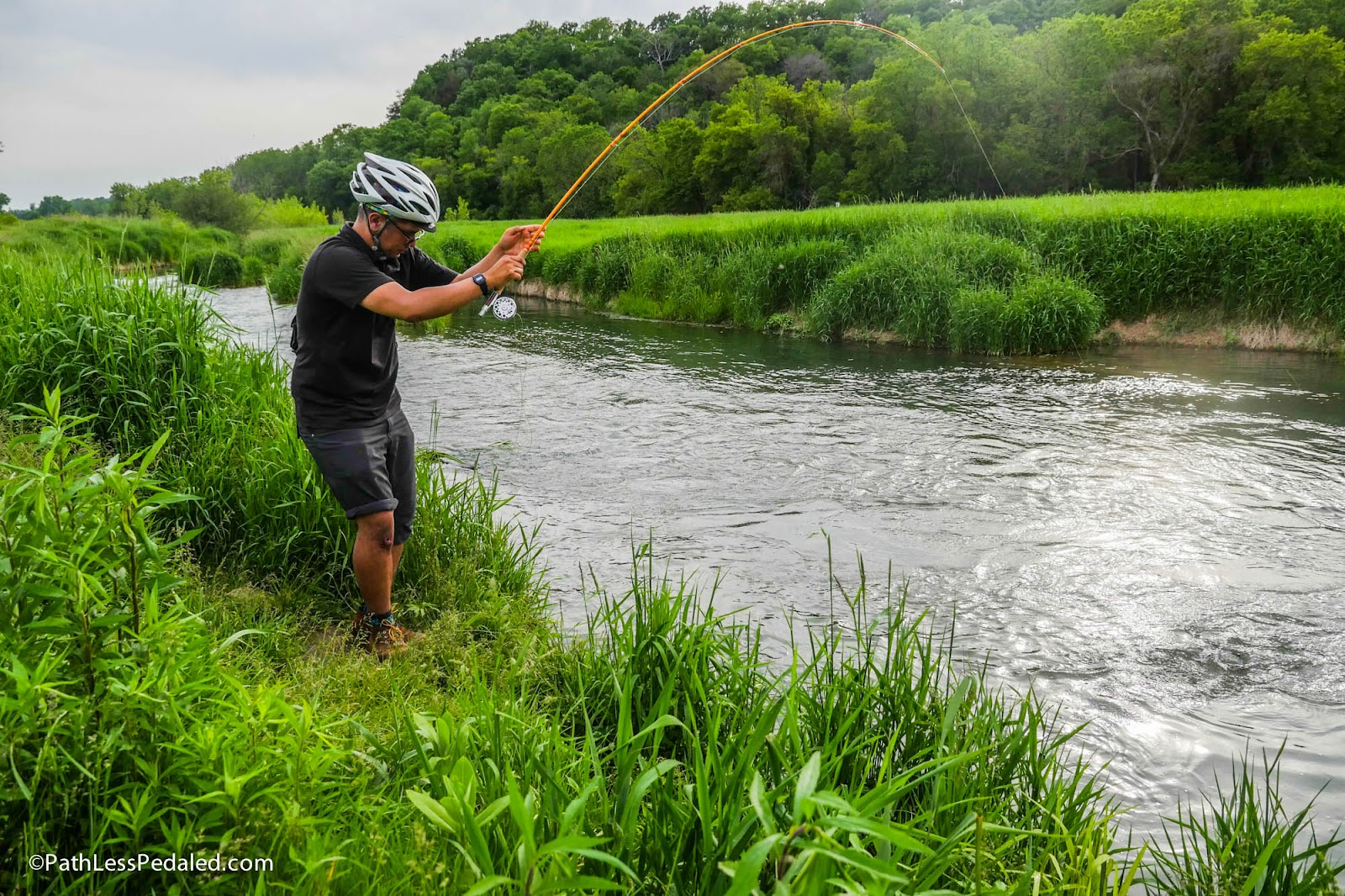 Fly fishing by bike in other words bikefishing for Fly fishing iowa