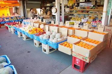 店頭に並ぶ野菜たち