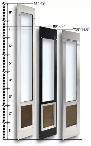 sliding glass dog door insert