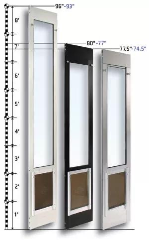 sliding glass dog door insert