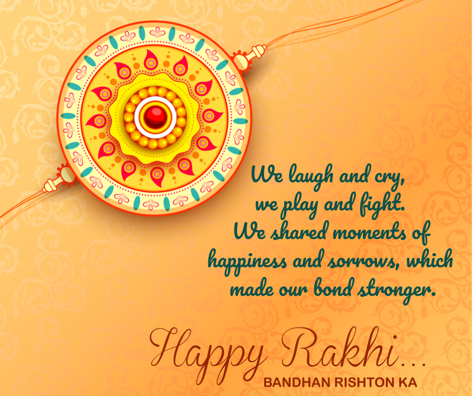 raksha bandhan quotes in english for sister