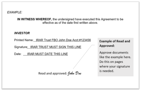 Read and Approved Signature example