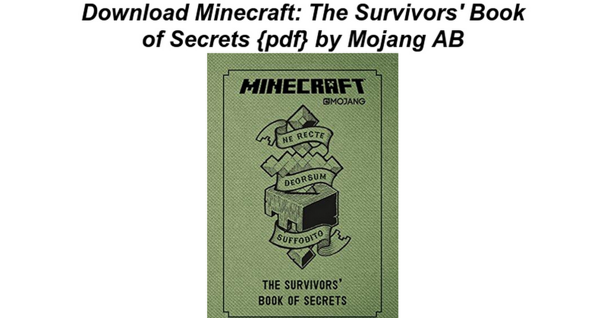 minecraft the survivors book of secrets google docs