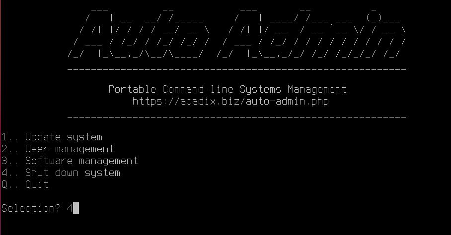 Desktop Admin interace on FreeBSD. Source: nudesystems.com