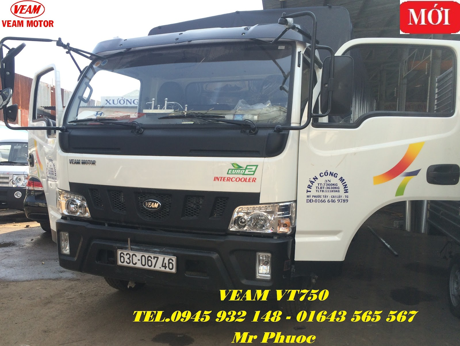 xe tai VEAM 75 tan xe VEAM VT750 75 tan xe tai VEAM 7T5 thung mui bat 2016