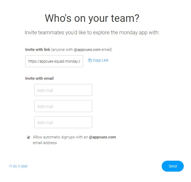 SaaS Invitations and integrations by Monday.com