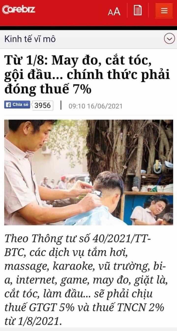 làm móng, massage....đều phải đóng thuế