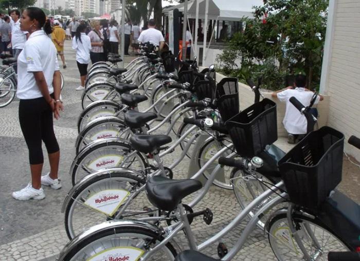 O primeiro modelo de bikesharing do Rio de Janeiro.