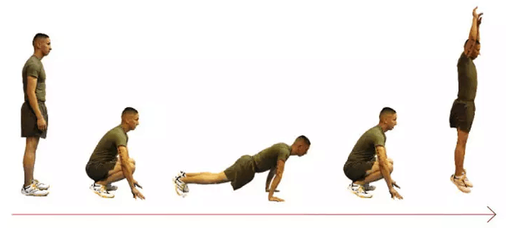 burpees exercise for strong core  step by step