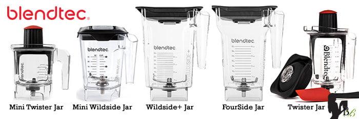 Blendtec vs Vitamix Review Blendtec Jars