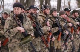 Бойцы из Чечни, воюющие на стороне сепаратистов