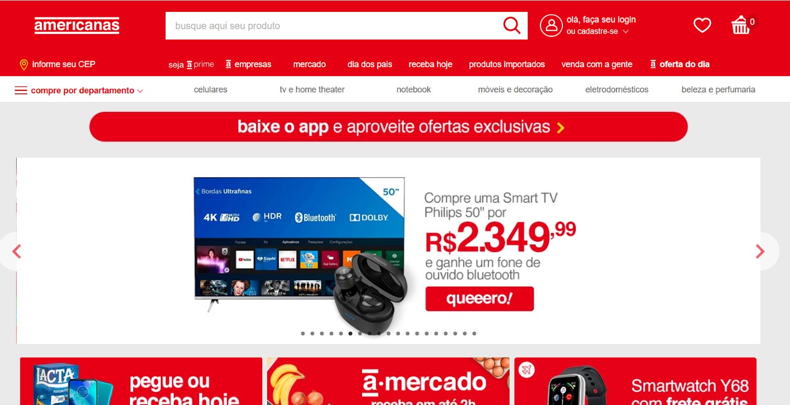 top e-commerce sites in Brazil americanas