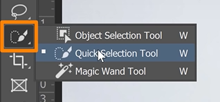 Select the Quick Selection tool