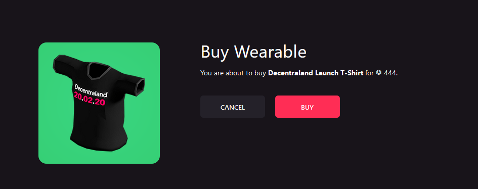 Decentraland Wearables Launch T-Shirt