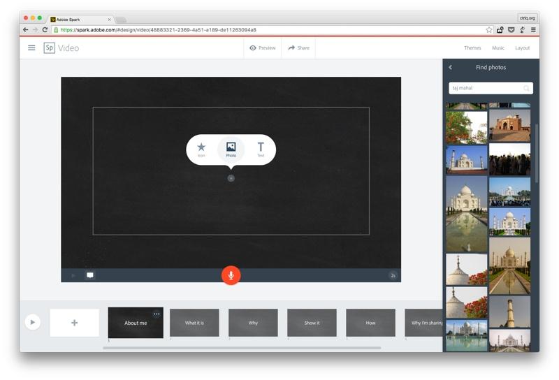 iOS Adobe Spark, www.labnol.com