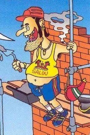 Resultado de imagen para albailes trabajando en caricatura