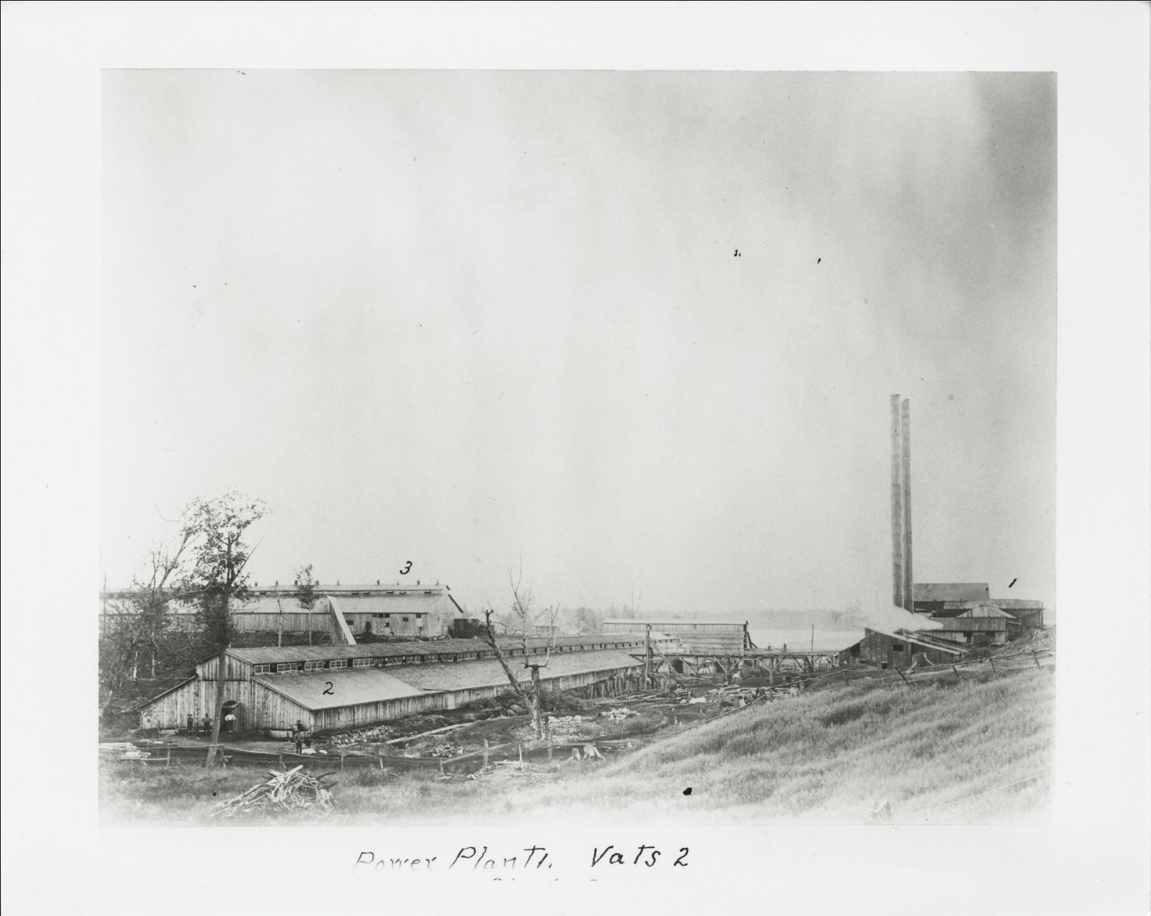C:\Users\Robert P. Rusch\Desktop\II. RLHSoc\Documents & Photos-Scanned\Rib Lake History 10700-10799\10789-P. Tannery c. 1900, view from north, 1) Power plant, 2.jpg