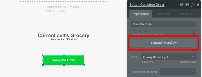 Bubble No Code Instacart clone template tutorial walkthrough