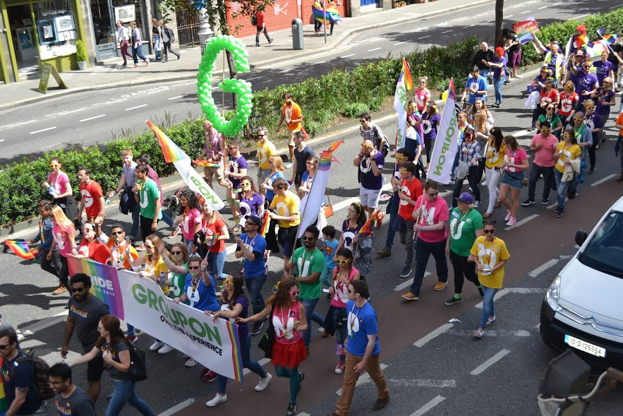 Groupon in Dublin Pride 2017