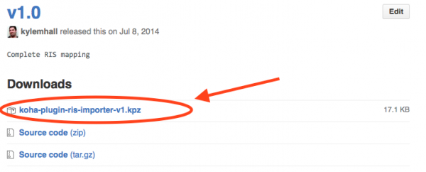 Download the latest *.kpz file.