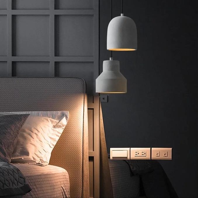 Concrete Bedroom Pendant Light