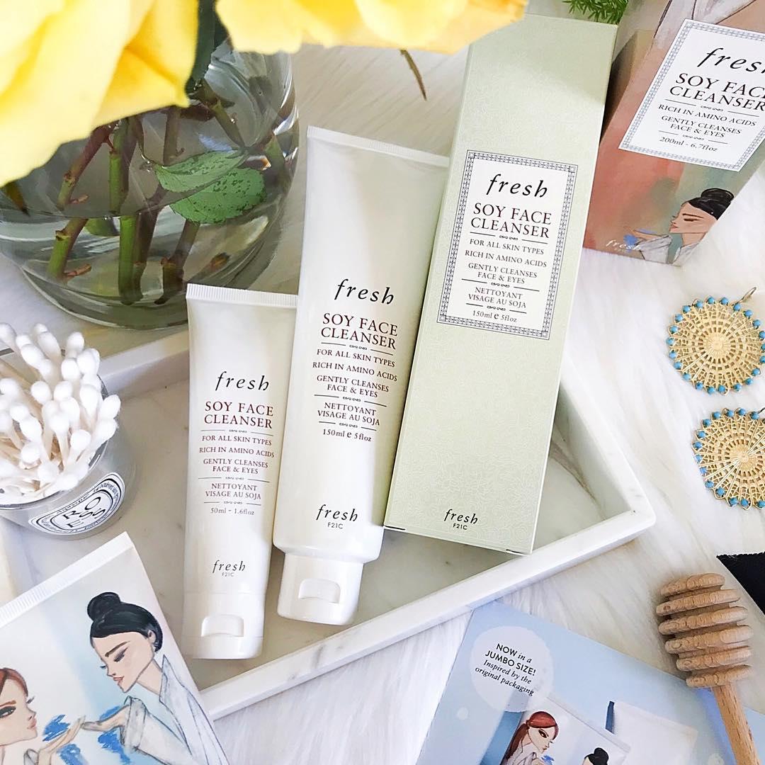 Fresh Soy Face giúp làn da của các nàng trở nên săn chắc, tươi trẻ và căng tràn sức sống