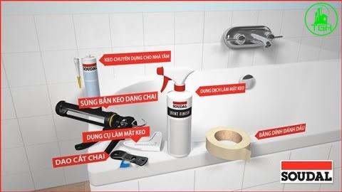 dụng cụ chống thấm nhà vệ sinh silicon
