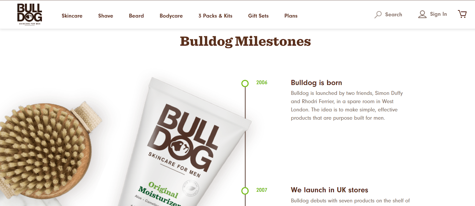Bulldog Skincare, About Page
