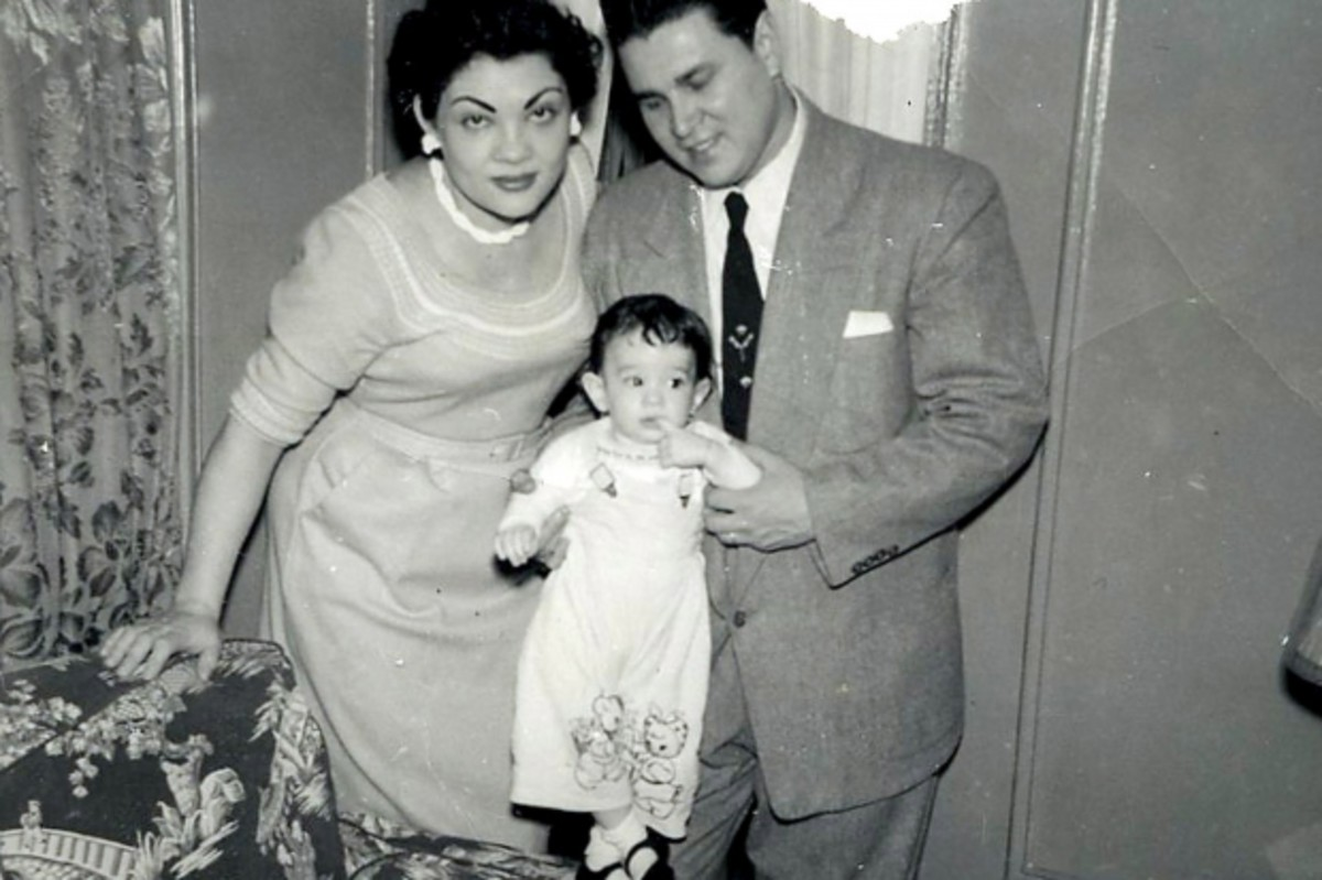 Sotomayor as a child with her parents.
