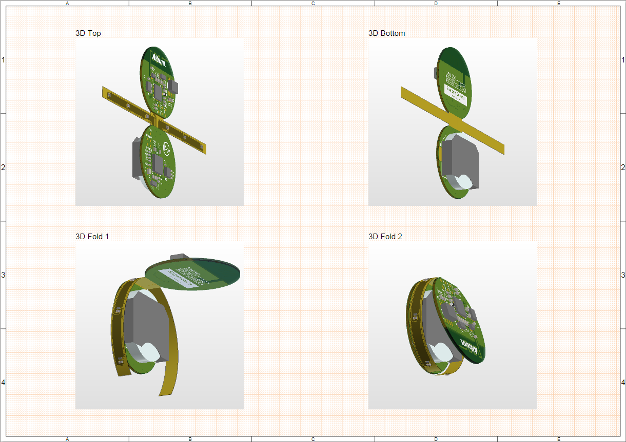 Use the board realistic view to show different fold states for your flex designs