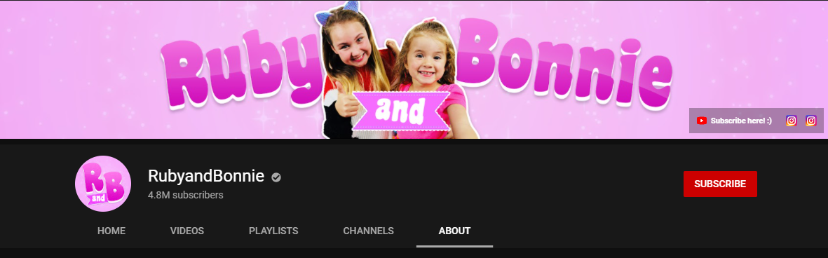 Ruby and Bonnie YouTube channel