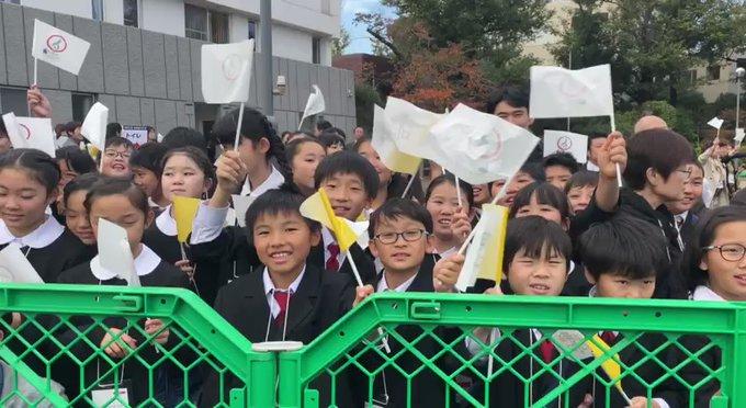 Đức Thánh Cha nói với giới trẻ Nhật: 'Đừng bao giờ ngã lòng hay từ bỏ giấc mơ của chúng con'