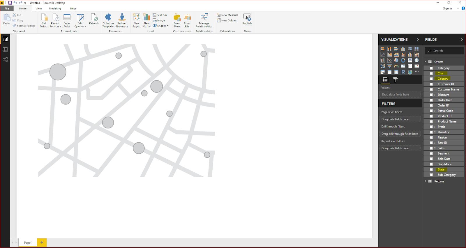 Maps & Hierarchy in Microsoft Power BI 30