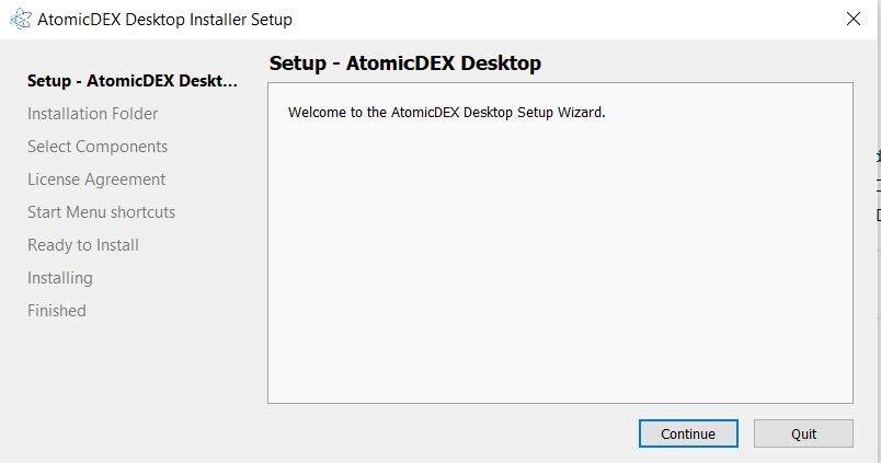 Install AtomicDEX 1