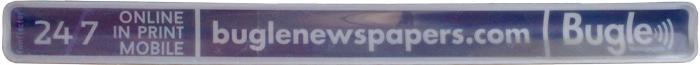 Werbereflektor Schnapparmband für Bugle Newspapers von funflector