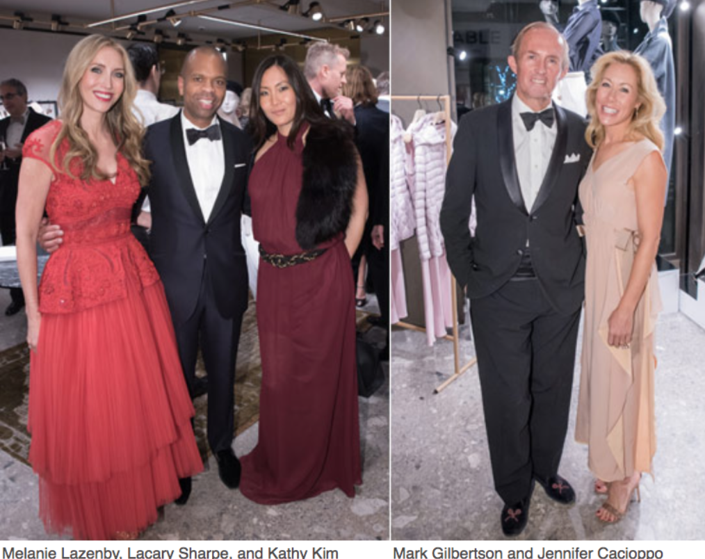 Karen Klopp, Hilary Dick article for New York Social Diary, What to wear to a black tie gala for Lenox Hill Neighborhood Association.   Melanie Lazenby, Lacary Sharpe, Kathy Kim.