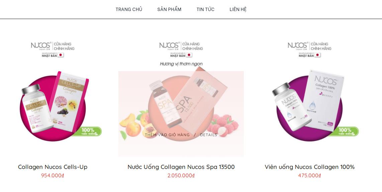 Một số sản phẩm và giá bán