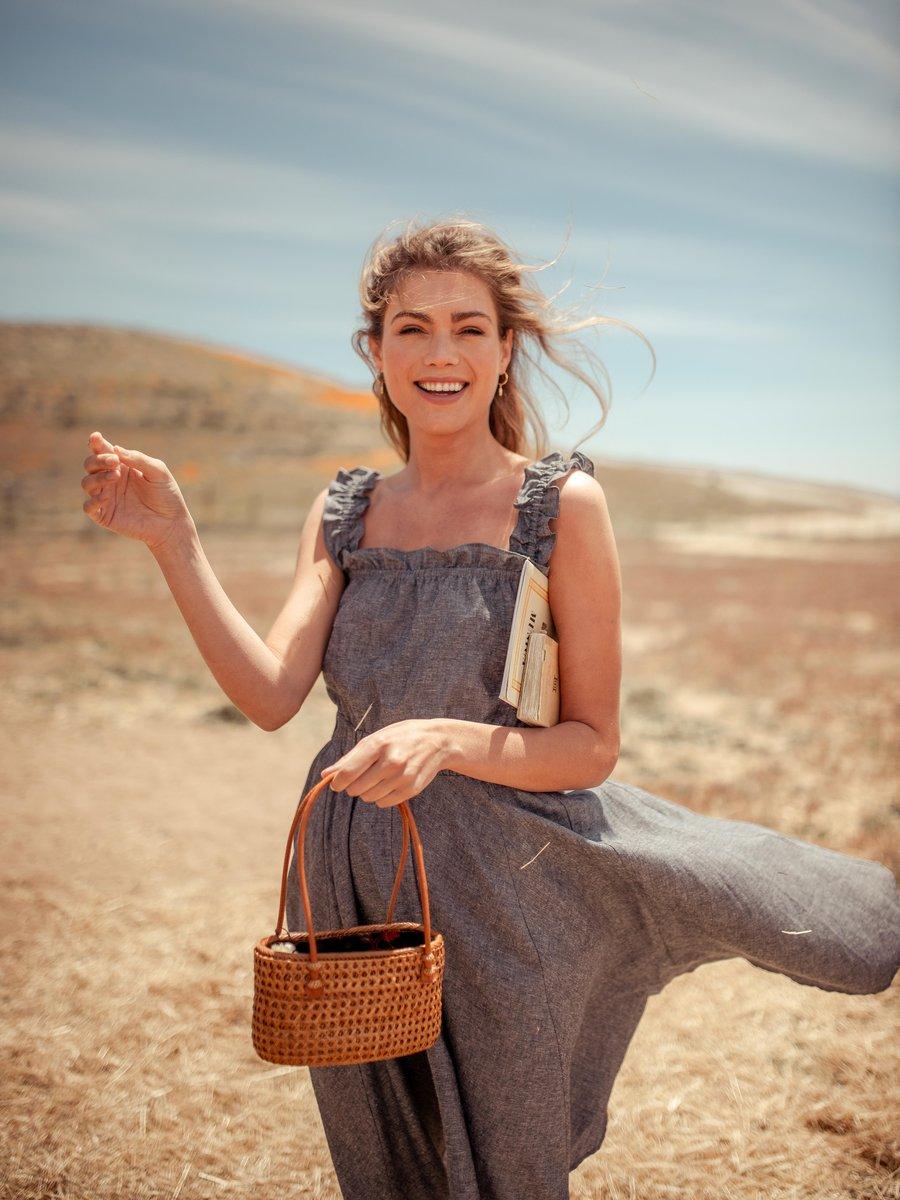 Sleeveless hemp dress with ruffled sleeves from Valani
