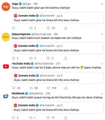 swiggy vs zomato twitter marketing