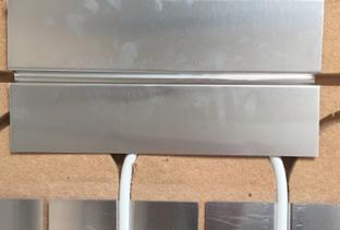Photo 6.9-2: Recouvrement du retour par un tôle aluminium