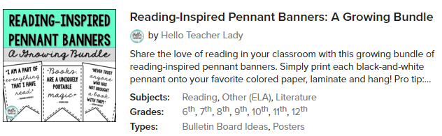 Reading-Inspired Pennant Banners