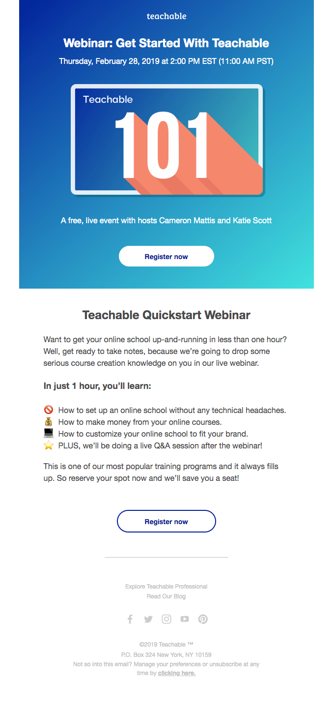 Teachable Quickstart Webinar