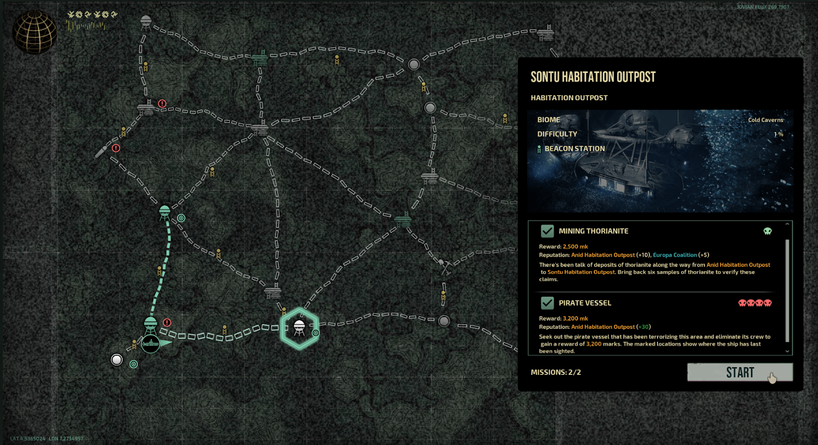 Barotrauma new mission selection with multiple missions
