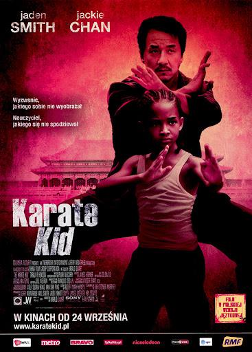 Przód ulotki filmu 'Karate Kid'