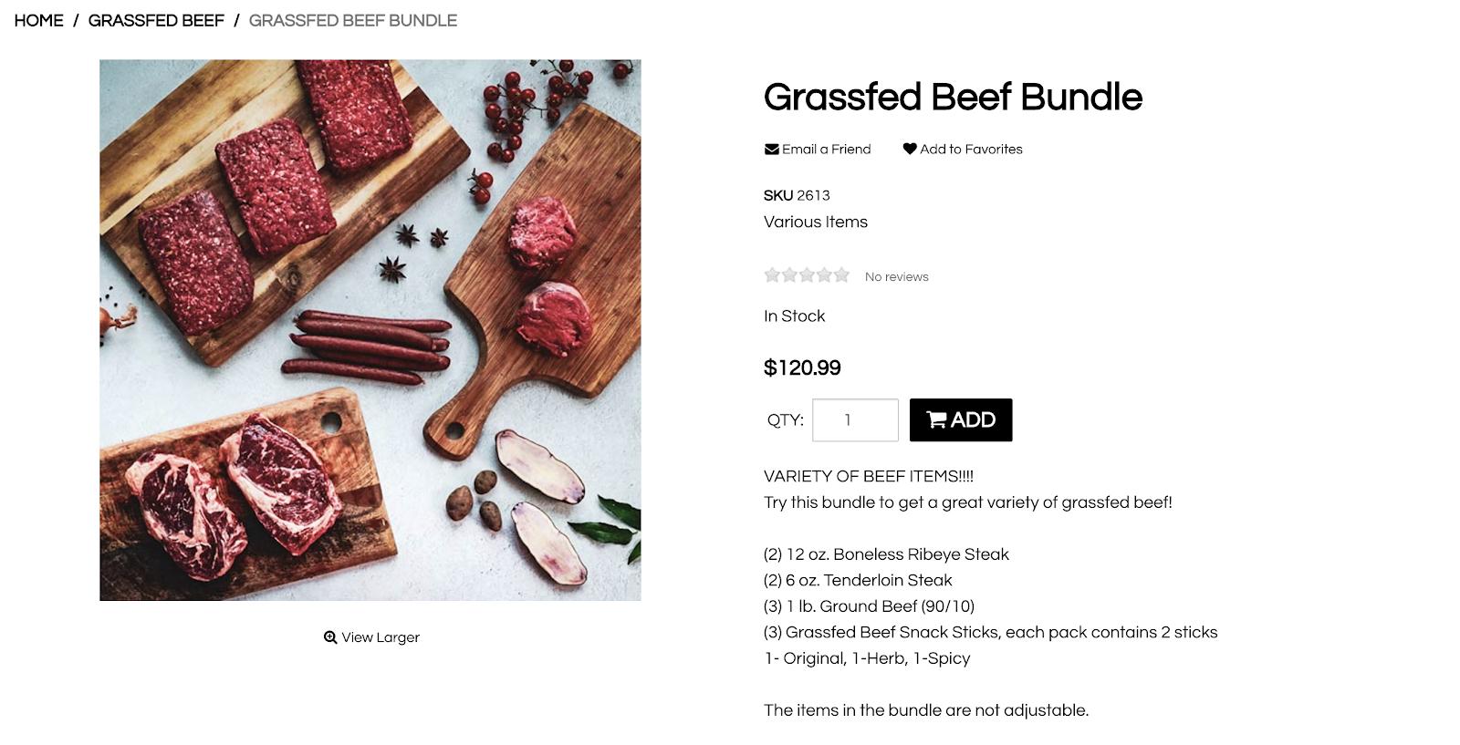 White Oak Pastures beef bundle