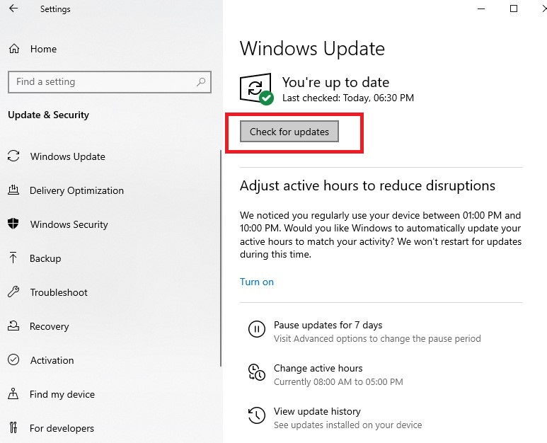 When you're done, restart your computer to apply the updates.