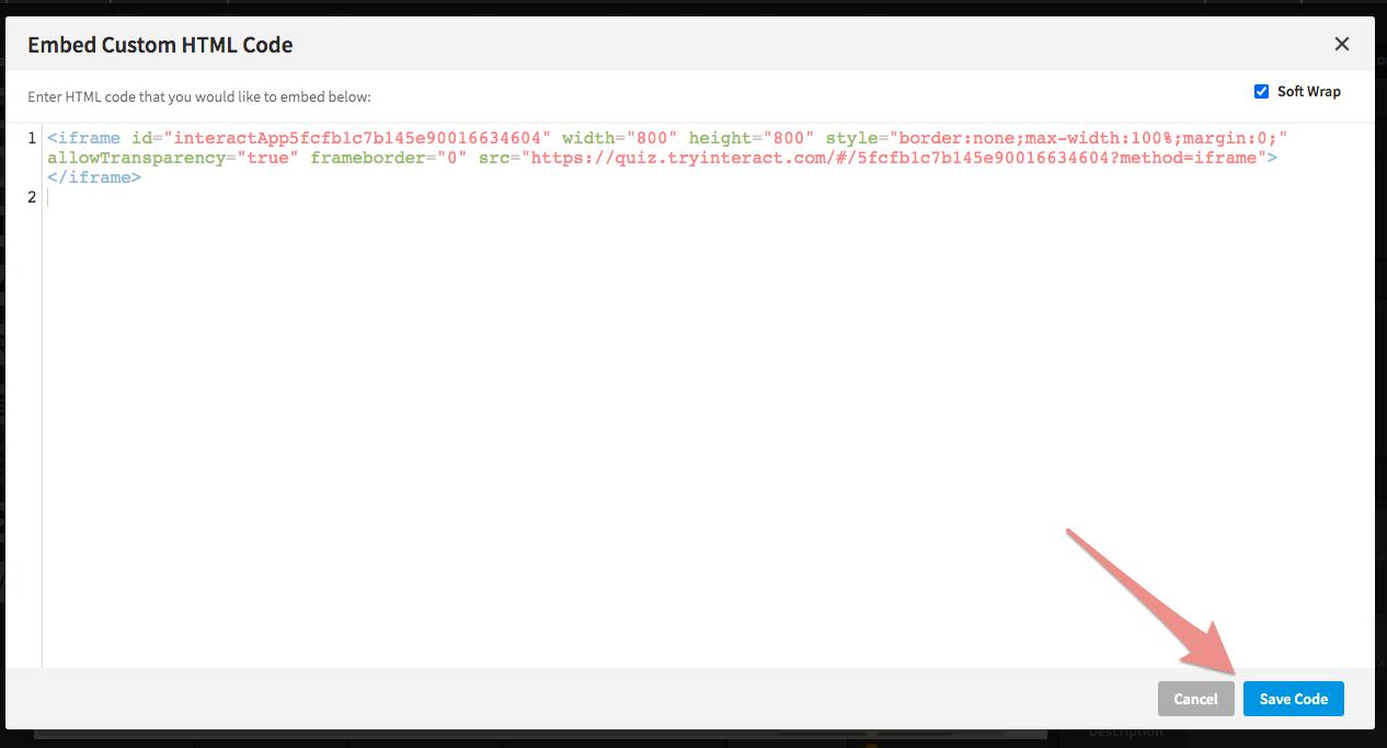 HTML code box
