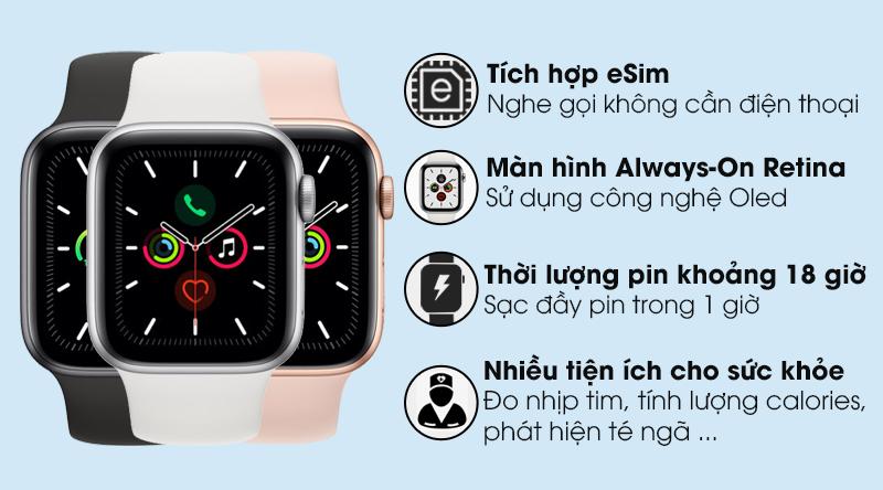 Apple Watch Series 5 40mm LTE Bản Nhôm (NEW)