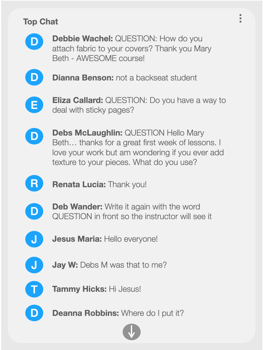 Example Virtual Q&A Chatbox