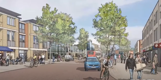 Artist impression of the plans for Cranbrook town centre